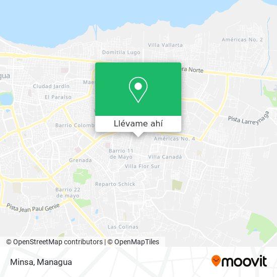 Mapa de Minsa