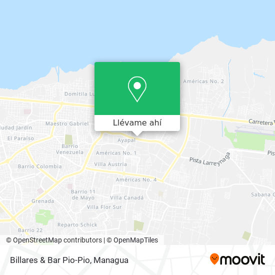 Mapa de Billares & Bar Pio-Pio