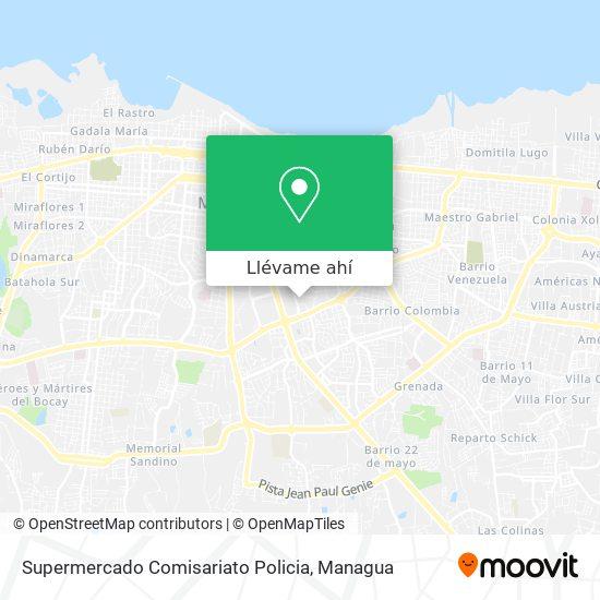 Mapa de Supermercado Comisariato Policia