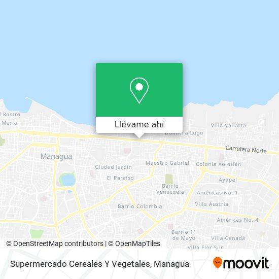 Mapa de Supermercado Cereales Y Vegetales
