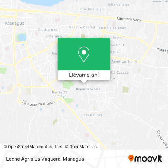 Mapa de Leche Agria La Vaquera