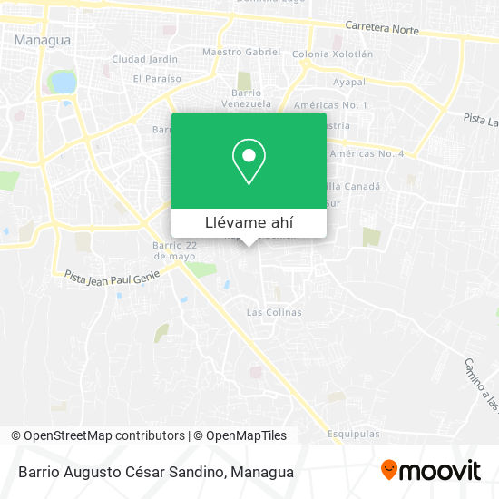 Mapa de Barrio Augusto César Sandino
