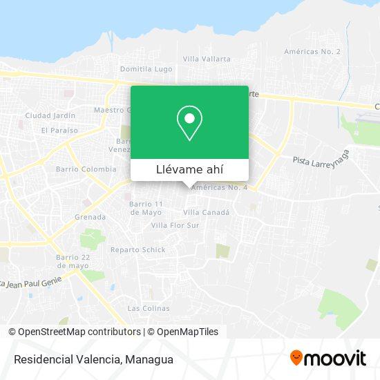 Mapa de Residencial Valencia
