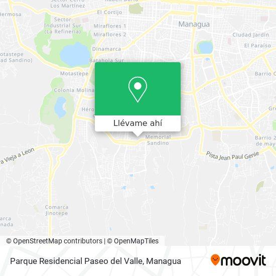 Mapa de Parque Residencial Paseo del Valle
