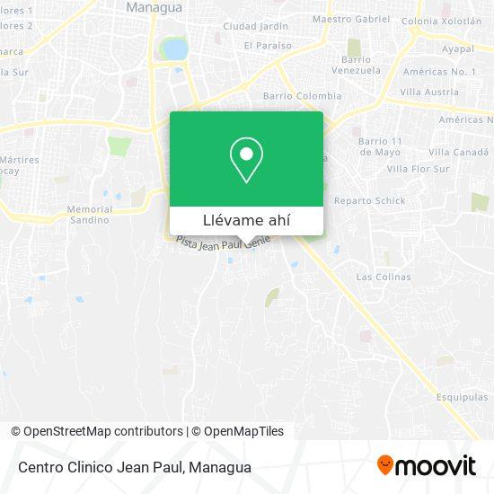 Mapa de Centro Clinico Jean Paul