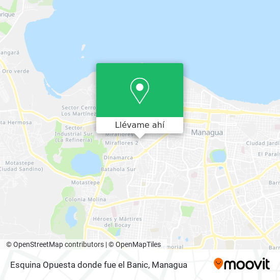 Mapa de Esquina Opuesta donde fue el Banic