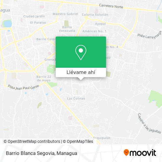 Mapa de Barrio Blanca Segovia
