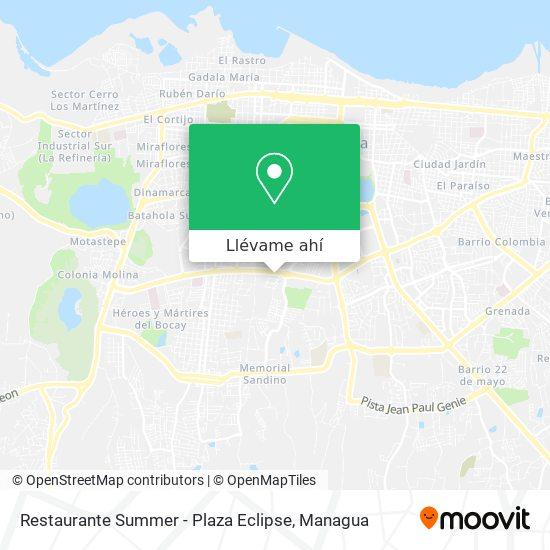 Mapa de Restaurante Summer - Plaza Eclipse