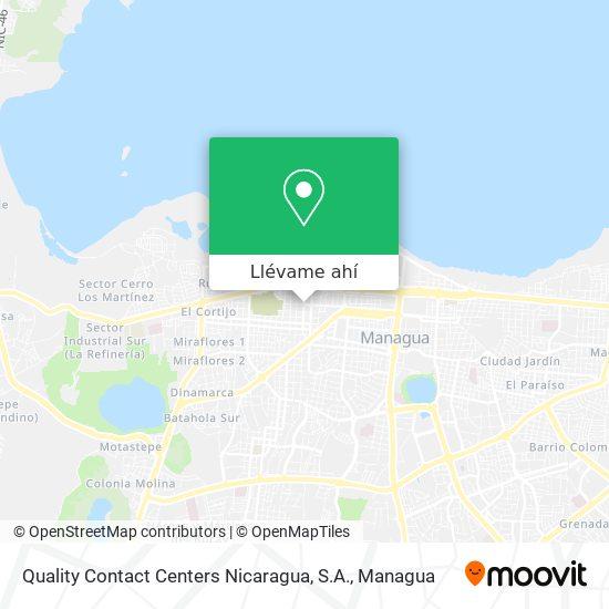 Mapa de Quality Contact Centers Nicaragua, S.A.