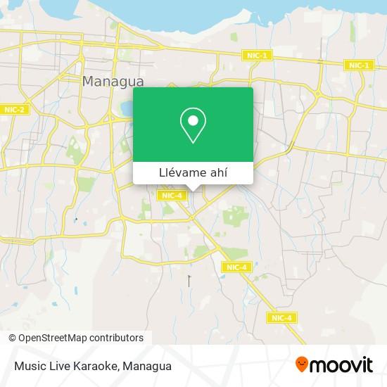 Mapa de Music Live Karaoke
