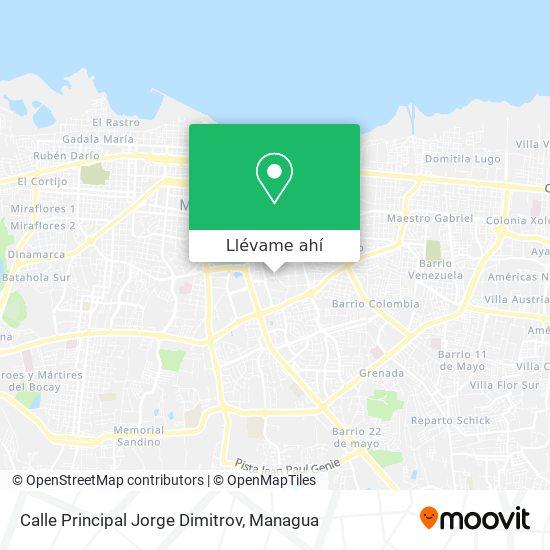 Mapa de Calle Principal Jorge Dimitrov