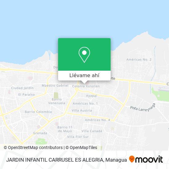 Mapa de JARDIN INFANTIL CARRUSEL ES ALEGRIA