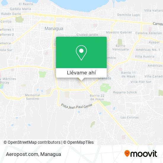 Mapa de Aeropost.com