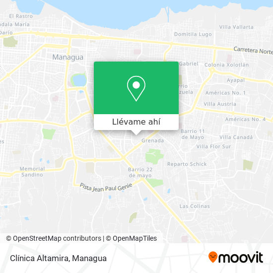 Mapa de Clínica Altamira