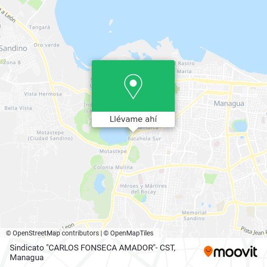 """Mapa de Sindicato """"CARLOS FONSECA AMADOR""""- CST"""