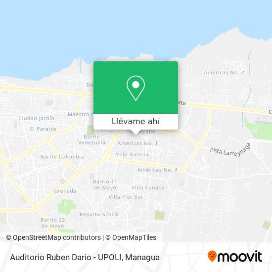 Mapa de Auditorio Ruben Dario - UPOLI