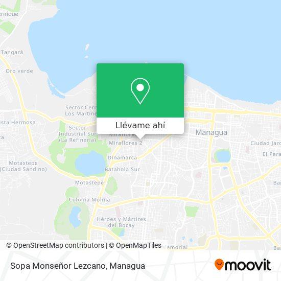 Mapa de Sopa Monseñor Lezcano
