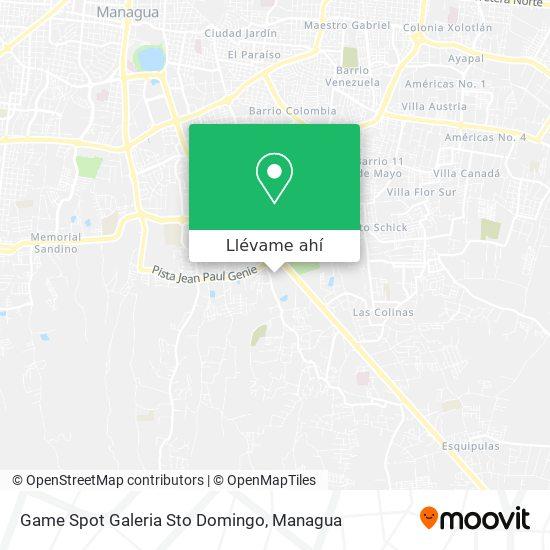 Mapa de Game Spot Galeria Sto Domingo
