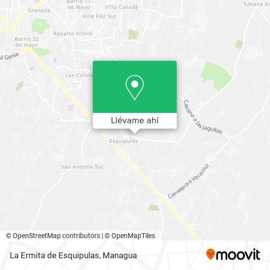 Mapa de La Ermita de Esquipulas