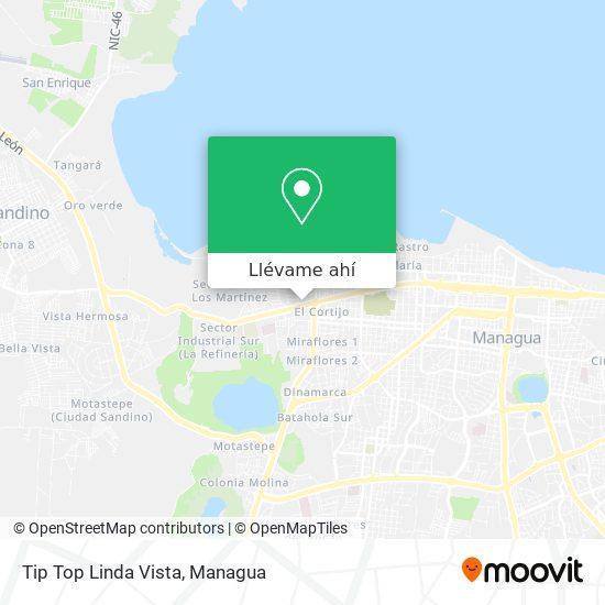 Mapa de Tip Top Linda Vista