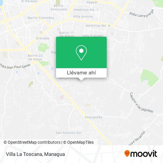 Mapa de Villa La Toscana