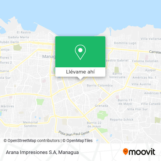 Mapa de Arana Impresiones S.A