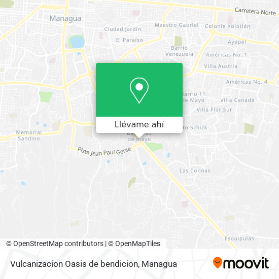 Mapa de Vulcanizacion Oasis de bendicion