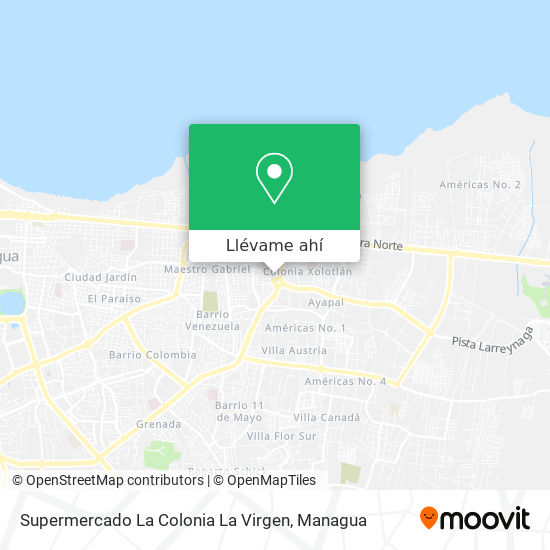 Mapa de Supermercado La Colonia La Virgen