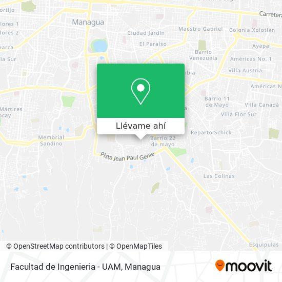 Mapa de Facultad de Ingenieria - UAM