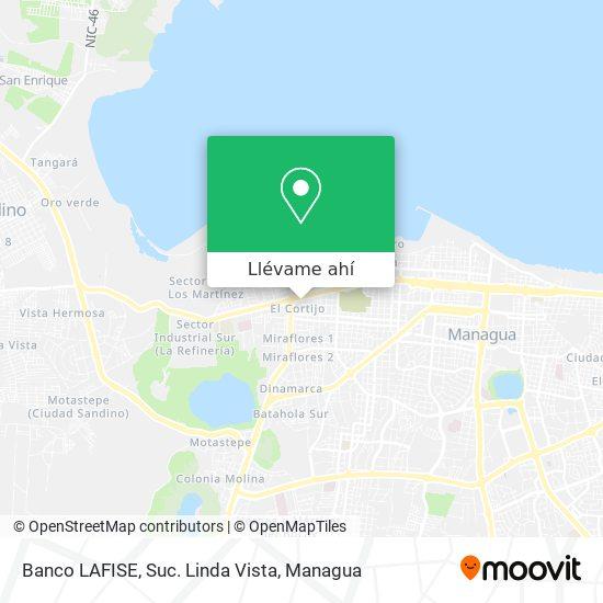 Mapa de Banco LAFISE, Suc. Linda Vista