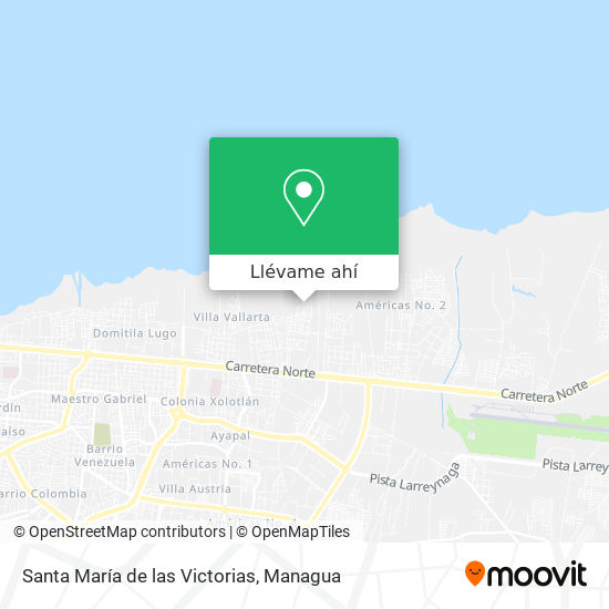 Mapa de Santa María de las Victorias