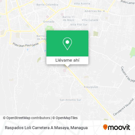Mapa de Raspados Loli Carretera A Masaya