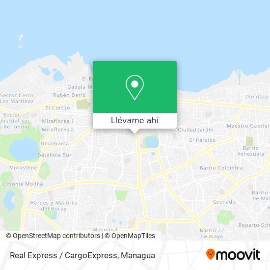 Mapa de Real Express / CargoExpress