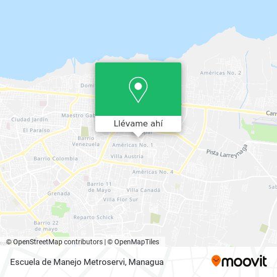 Mapa de Escuela de Manejo Metroservi
