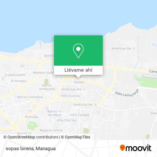 Mapa de sopas lorena