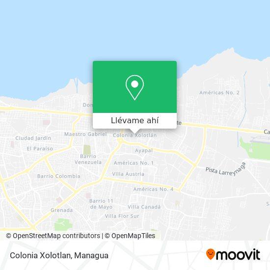 Mapa de Colonia Xolotlan