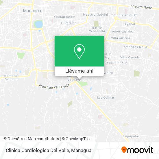 Mapa de Clinica Cardiologica Del Valle