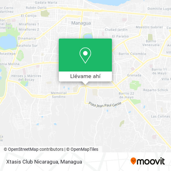 Mapa de Xtasis Club Nicaragua