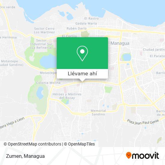 Mapa de Zumen