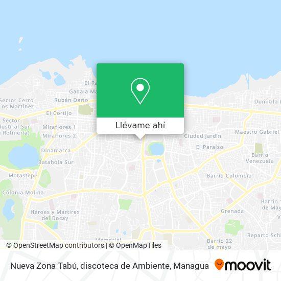 Mapa de Nueva Zona Tabú, discoteca de Ambiente