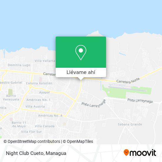 Mapa de Night Club Cueto
