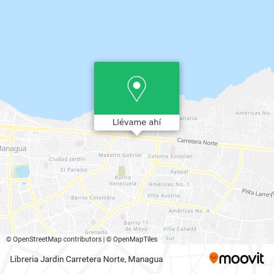 Mapa de Libreria Jardin Carretera Norte