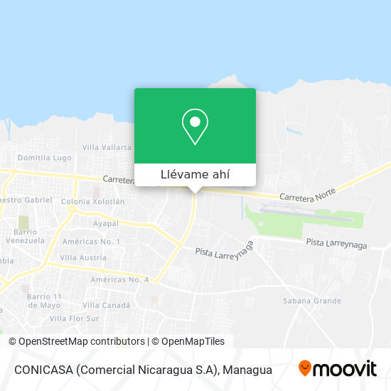 Mapa de CONICASA (Comercial Nicaragua S.A)