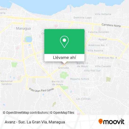 Mapa de Avanz - Suc. La Gran Vía
