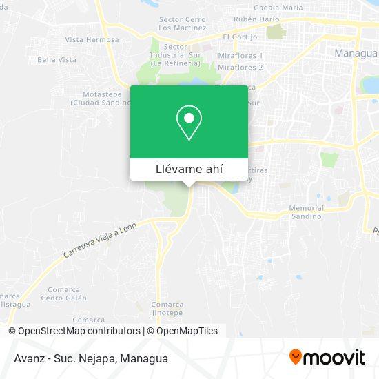 Mapa de Avanz - Suc. Nejapa