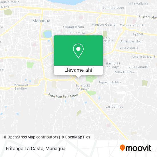 Mapa de Fritanga La Casta