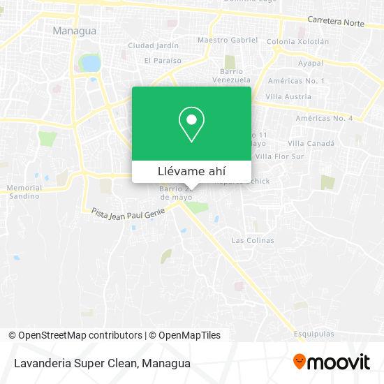 Mapa de Lavanderia Super Clean