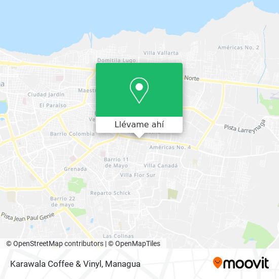 Mapa de Karawala Coffee & Vinyl