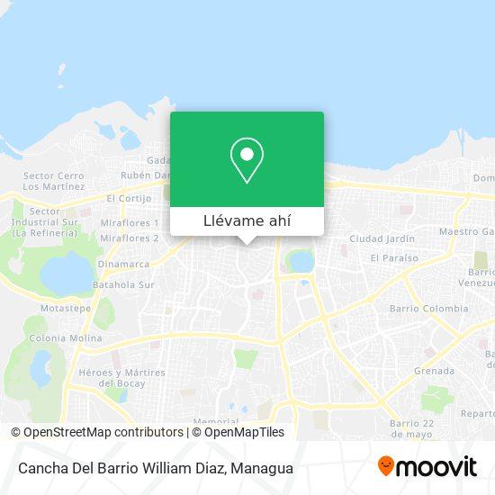 Mapa de Cancha Del Barrio William Diaz