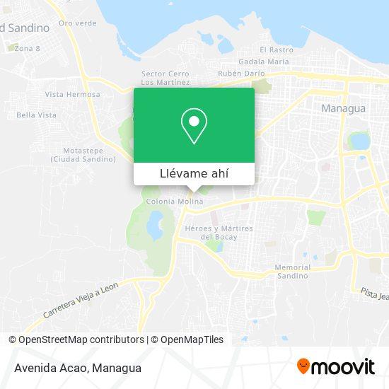 Mapa de Avenida Acao